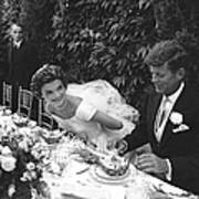 John F. Kennedy And Jacqueline Kennedy 1 Art Print