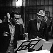 Jones & Sinatra In Studio Art Print