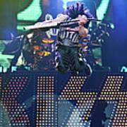 Kiss Perform At Wembley Arena In London Art Print