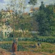 Kitchen Garden At The Hermitage, Pontoise, 1879 Art Print