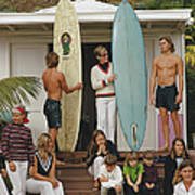 Laguna Beach Surfers Art Print