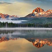 Little Redfish Lake, Sawtooth Mountains Art Print