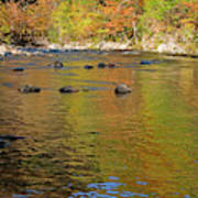 Little River In Autumn In Smoky Mountains National Park Art Print