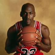 Michael Jordan Portrait Art Print