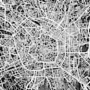 Milan Italy City Map Art Print