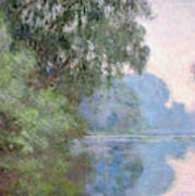 Morning On The Seine Near Giverny, 1897 Art Print