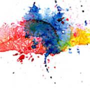 Multicolored Splashes Art Print