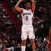 New Orleans Pelicans V Miami Heat Art Print