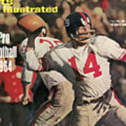 New York Giants Qb Y.a. Tittle, 1963 Nfl Championship Sports Illustrated Cover Art Print