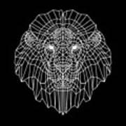 Night Lion Art Print