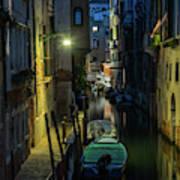 Night Walk In Venice Art Print