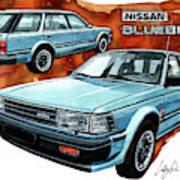 Nissan Bluebird Sw Art Print