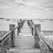 Old Dock Hyannis Port Cape Cod Ma Art Print