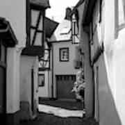 old historic street in Ediger Germany Art Print