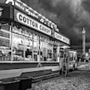 On The Midway - Temptations Of The Night 4 Bw Art Print