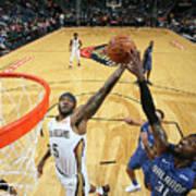 Orlando Magic V New Orleans Pelicans Art Print