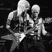 Photo Of Judas Priest And Rob Halford Art Print