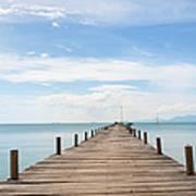 Pier On Koh Samui Island In Thailand Art Print