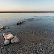 Platte River Mouth At Sunset Art Print