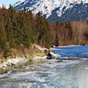 Portage Creek Portage Glacier Highway, Alaska Art Print