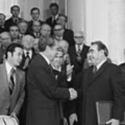 President Richard Nixon And Premier Art Print