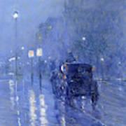 Rainy Midnight, Late 1890s  Art Print