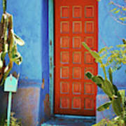 Red Door Adobe Art Print
