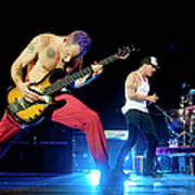 Red Hot Chili Peppers Perform At O2 Art Print