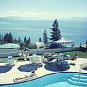 Relaxing At Lake Tahoe Art Print