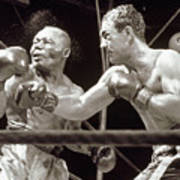Rocky Marciano Defeats Jersey Joe Art Print