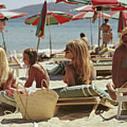 Saint-tropez Beach Art Print