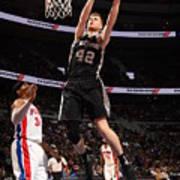 San Antonio Spurs V Detroit Pistons Art Print