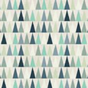 Seamless Geometric Pattern On Paper Art Print