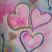 Seven Hearts Art Print