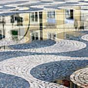 Sidewalk In Lisbon, Portugal Art Print