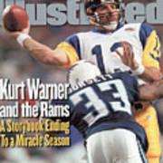 St. Louis Rams Qb Kurt Warner, Super Bowl Xxxiv Sports Illustrated Cover Art Print