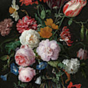 Still Life With Flowers In A Glass Vase, 1683 Art Print