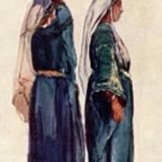 Studies Of Syrian Peasant Women Art Print