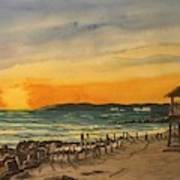 Sunset On Bradenton Beach, Fl. Art Print