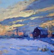Sunset Over The Farm Art Print