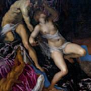 Tarquin And Lucretia Art Print