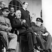 The Big Three - Ww2 - Tehran Conference 1943 Art Print