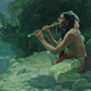 The Call Of The Flute Art Print