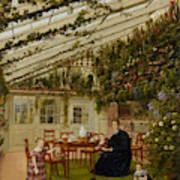 The Family Of Mr  Westfal In The Conservatory  Art Print