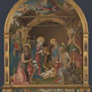 The Nativity With Saints Altarpiece  Art Print