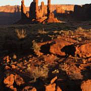 Totem Pole Formation At Sunset Art Print