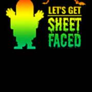 tshirt Lets Get Sheet Faced horizontal rainbow Art Print