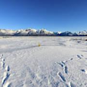 Turnagain Arm And Chugach Range From Hope Alaska Art Print