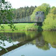 Union Bridge At Horncliffe On River Tweed Art Print