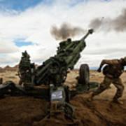 U.s. Marines Fire The M777-a2 Howitzer Art Print